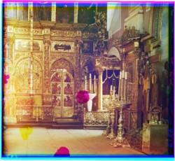 Внутреннее убранство Спасо-Преображенского Собора. Фото 1910-х годов