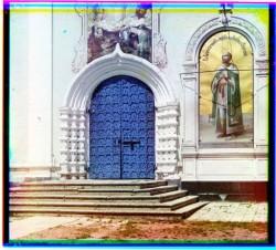 Часть стены Тверского Спасо-Преображенского Собора. Фото 1910-х годо